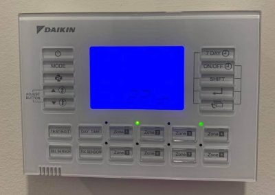 Daikin Air Conditioner digital control panel